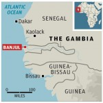 Map Of Gambia, West Africa
