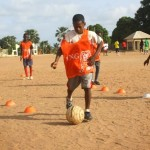 Soccer Skill Drilling In The Gambia